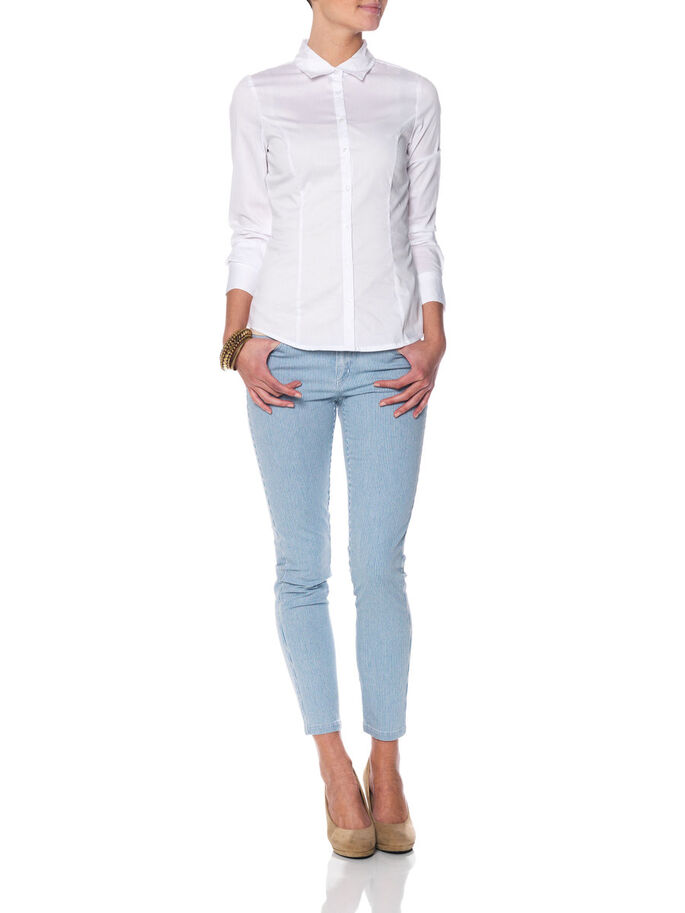 TIGHT LONG SLEEVED SHIRT, OPT.WHITE, large