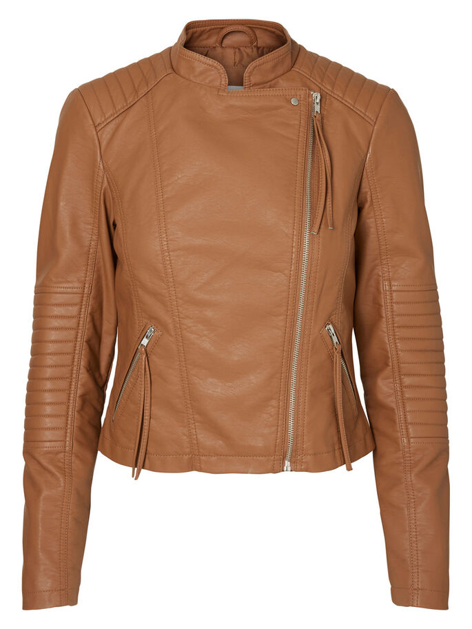 SHORT JACKET, Cognac, large