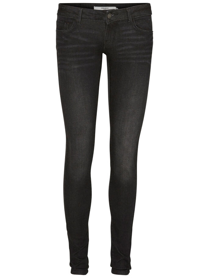 ONE SLW SKINNY FIT JEANS, Black, large