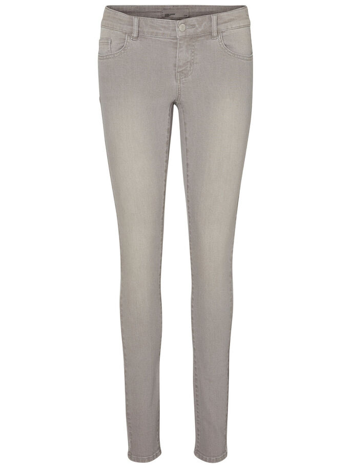 FIVE LW PUSH UP SKINNY JEANS, Light Grey Denim, large