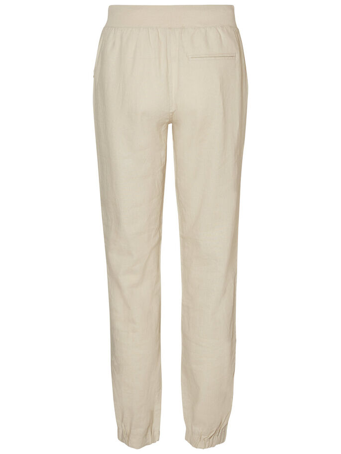 CASUAL TROUSERS, Oatmeal, large