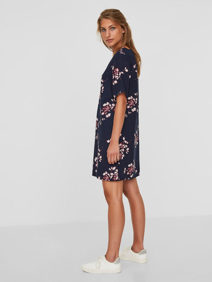 GABBY SHORT SLEEVED DRESS, Navy Blazer, large