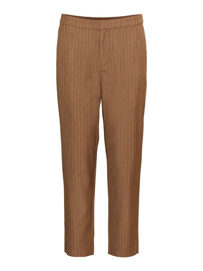 NORMAL WAIST TROUSERS, Tobacco Brown, large