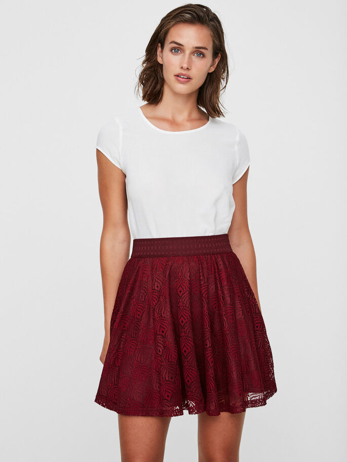 HW LACE SKIRT, Zinfandel, large