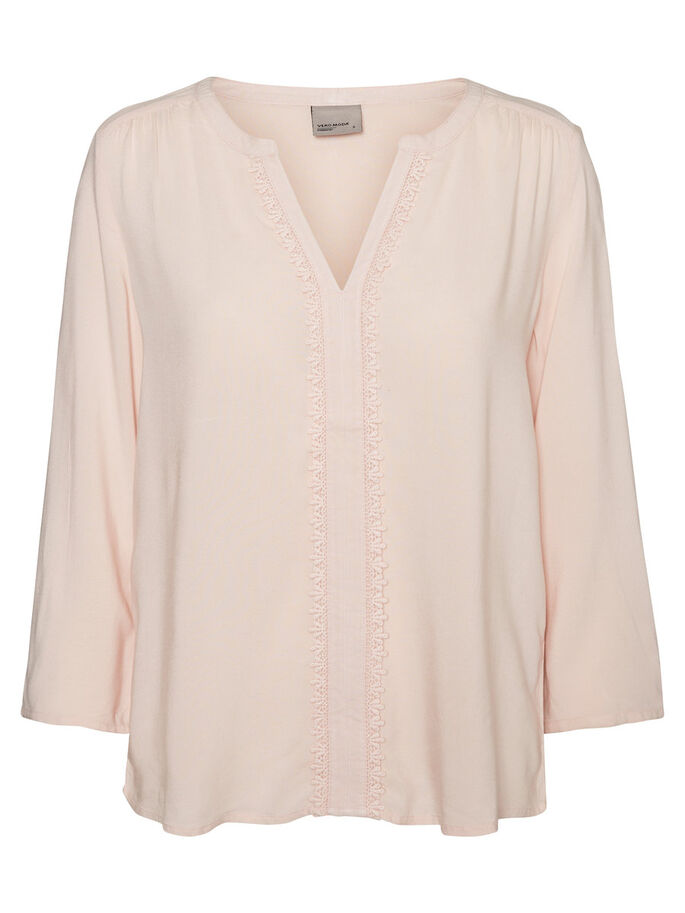 AVEC FINITIONS BLOUSE MANCHES 3/4, Peach Whip, large