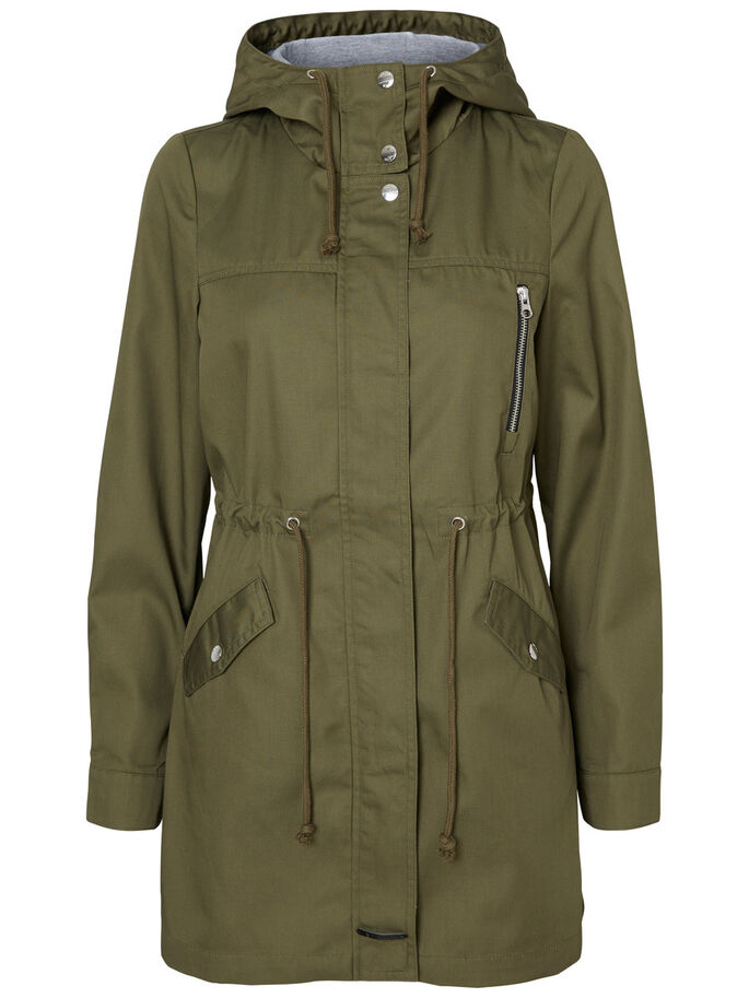 MANCHES LONGUES PARKA, Ivy Green, large