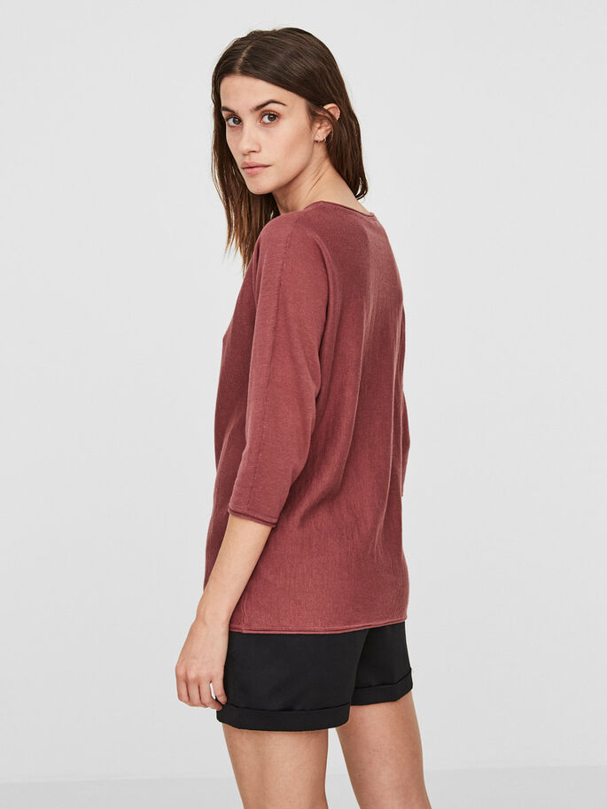 CASUAL 3/4 SLEEVED BLOUSE, Wild Ginger, large