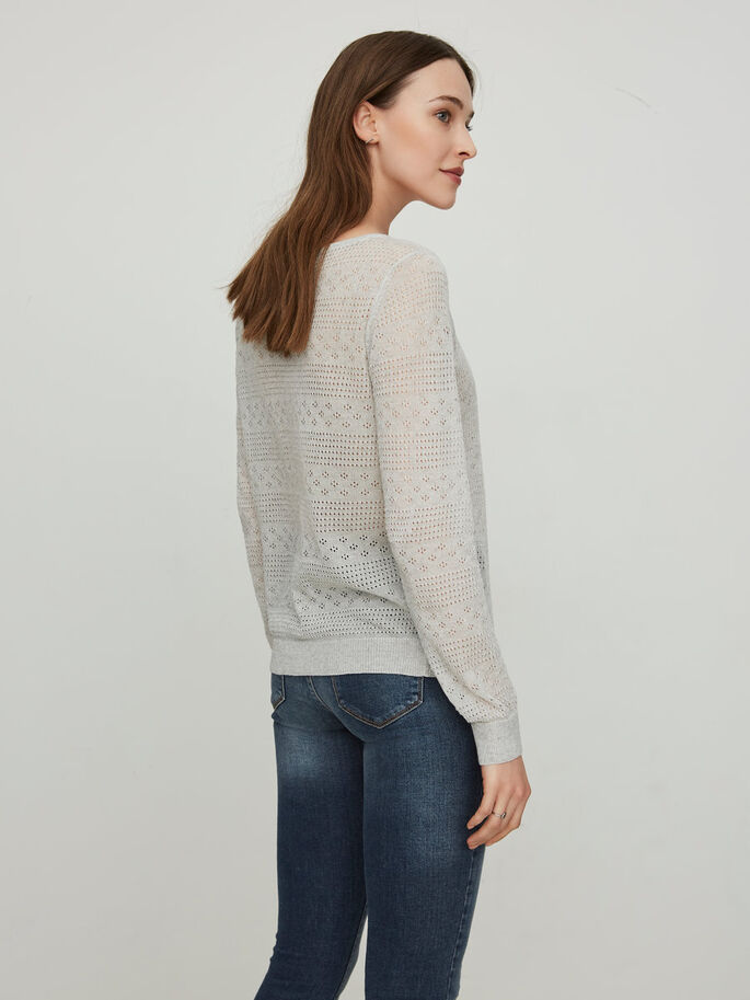 LONG SLEEVED KNITTED PULLOVER, Plein Air, large