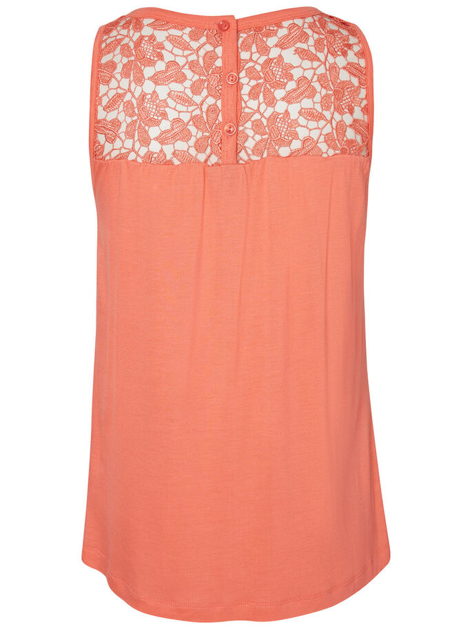 DENTELLE TOP SANS MANCHES, Georgia Peach, large