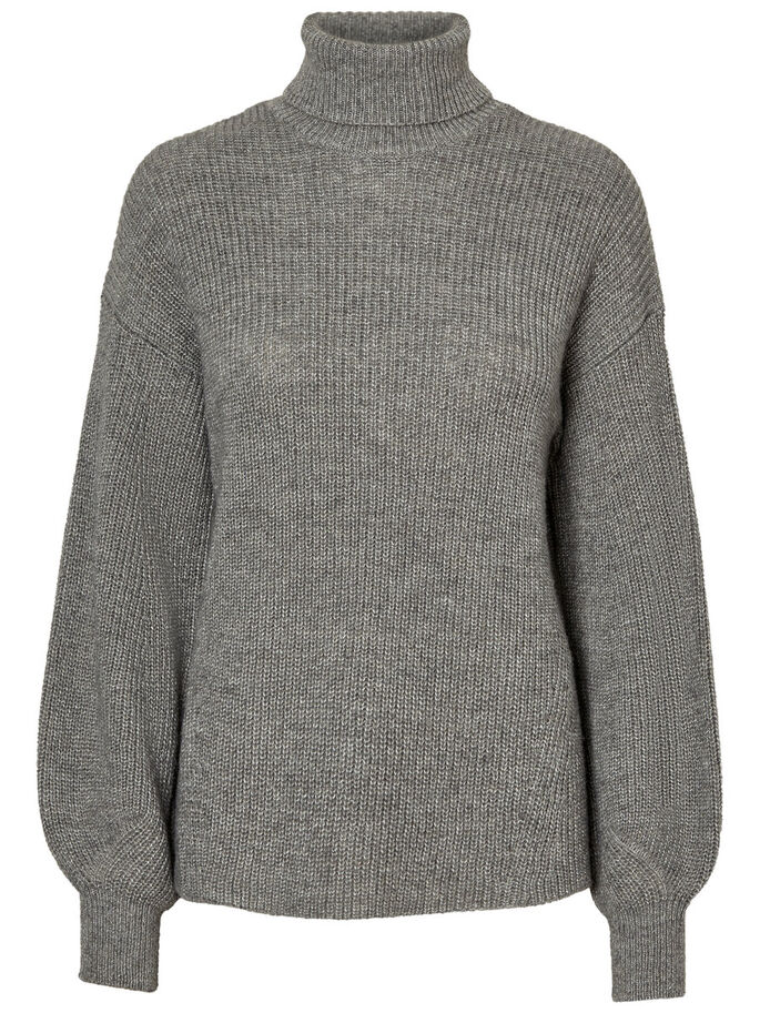 AWARE KNITTED PULLOVER, Light Grey Melange, large
