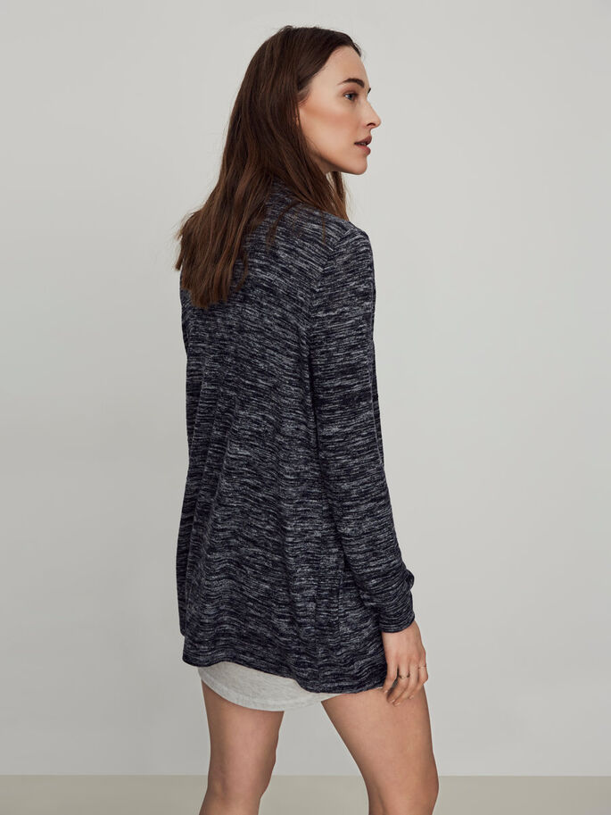CASUAL KNITTED CARDIGAN, Navy Blazer, large