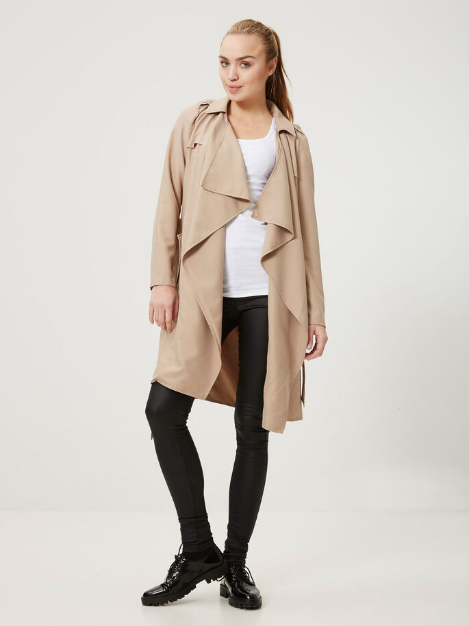 OVERGANGS TRENCHCOAT, Silver Mink, large