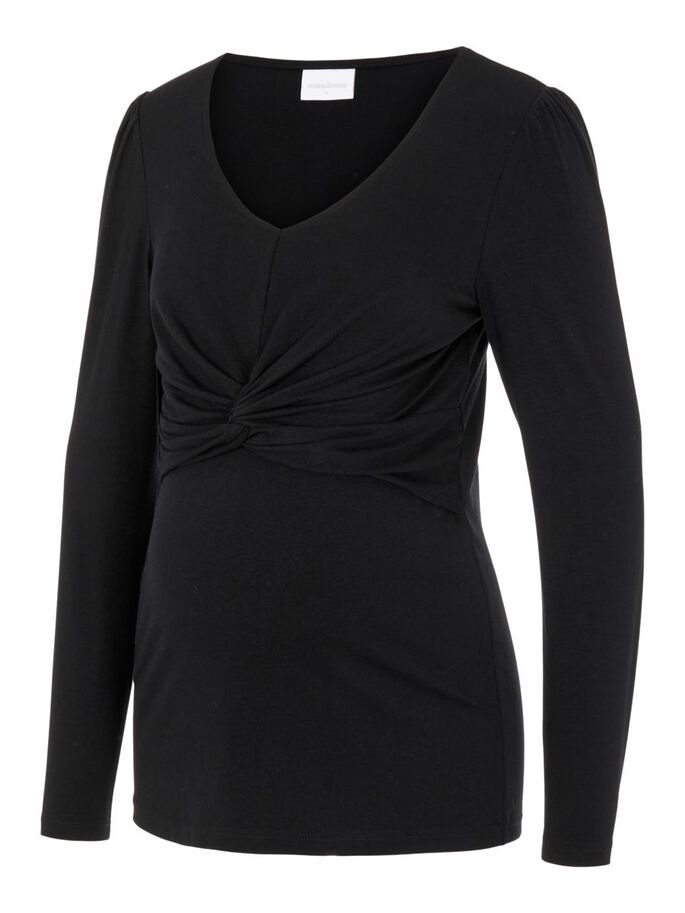 MLMACY 2-IN-1 MATERNITY TOP, Black, large