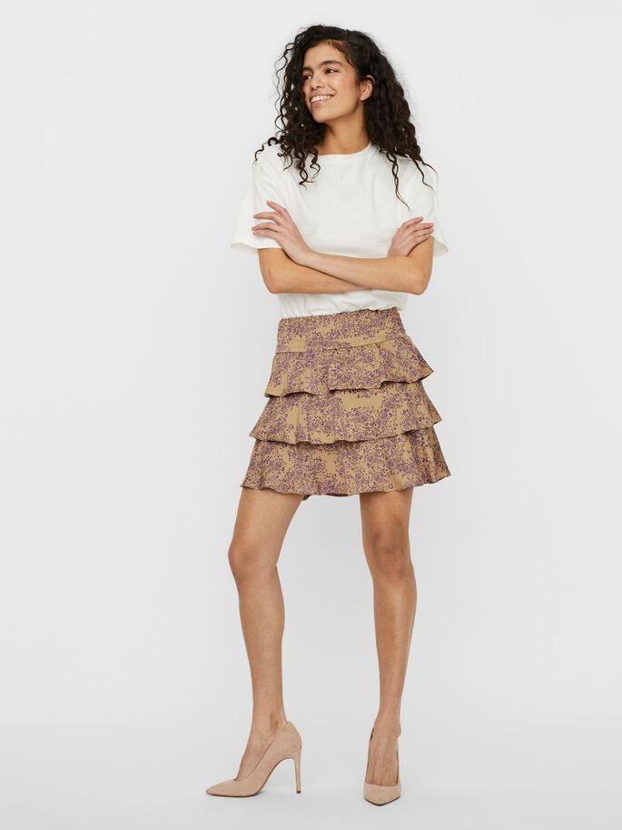 HIGH WAISTED SKIRT, Travertine, large
