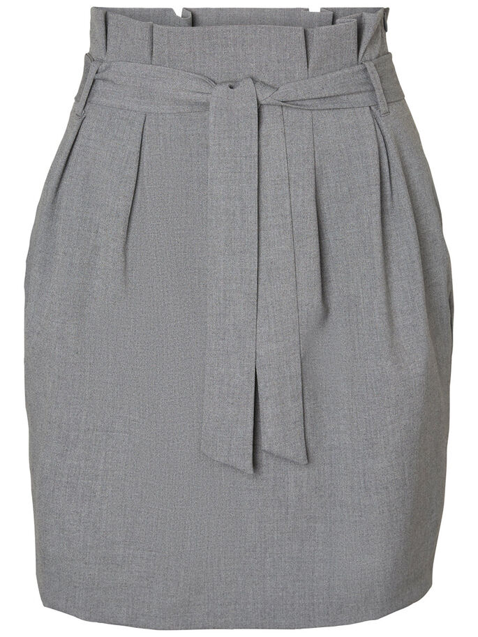 SHORT HW SKIRT, Light Grey Melange, large