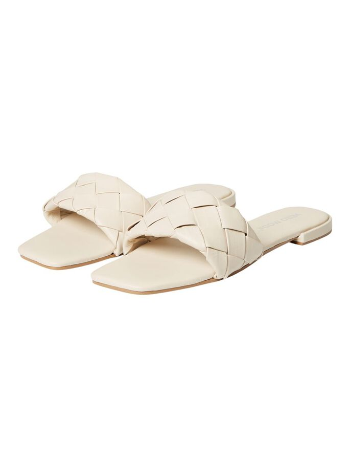 LEDER SANDALEN, Birch, large