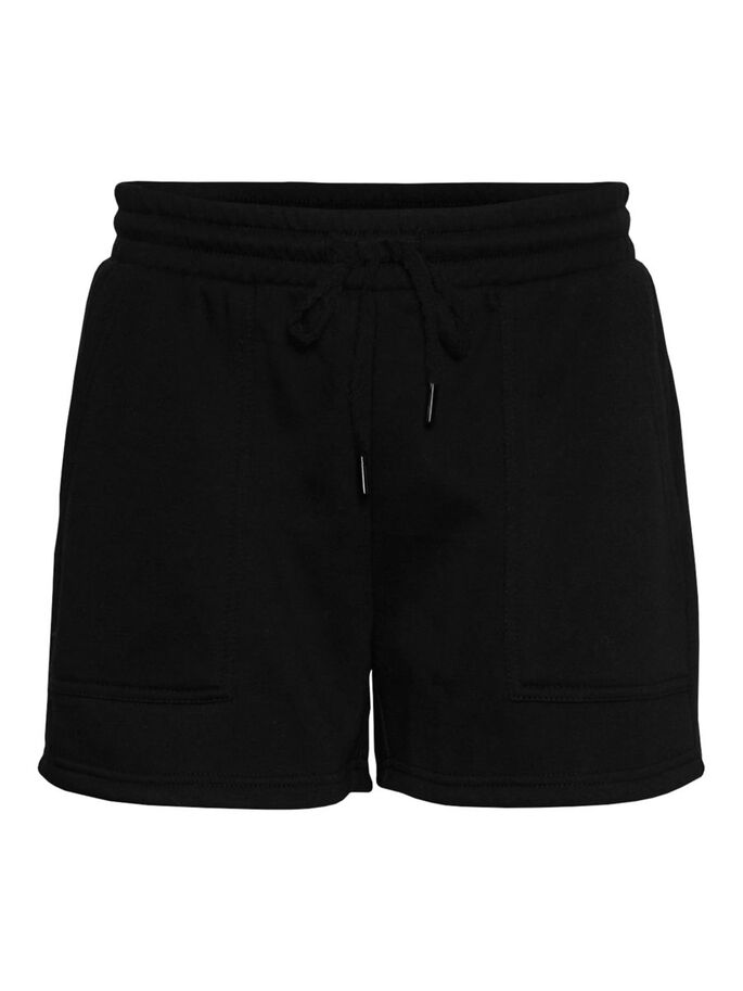 HIGH WAIST SHORTS, Black, large
