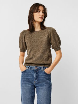 SHORT SLEEVED KNITTED PULLOVER