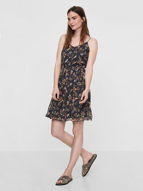 FLOWER SLEEVELESS DRESS