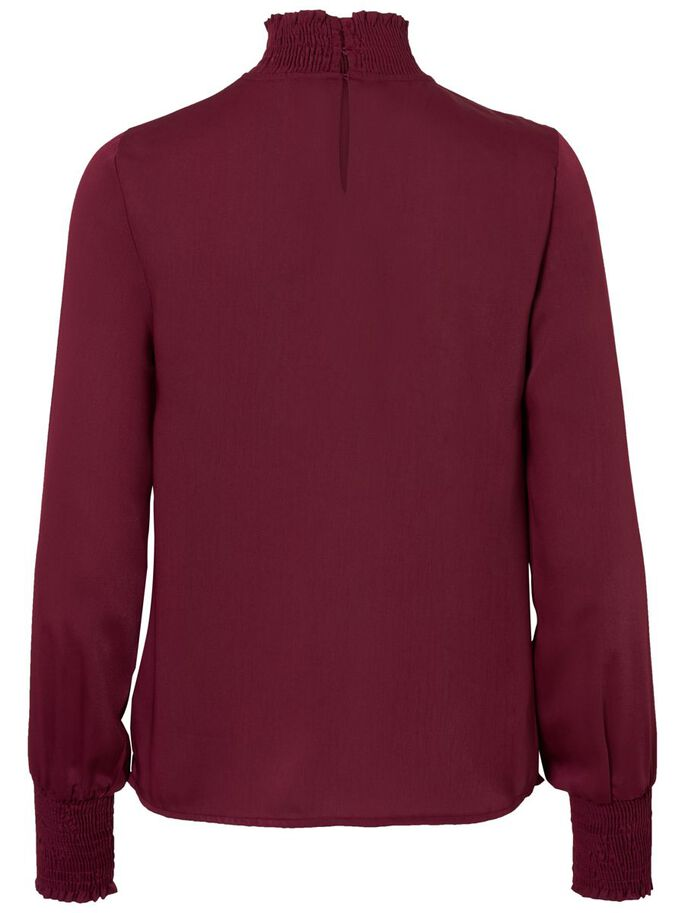 DETAILED LONG SLEEVED BLOUSE, Zinfandel, large