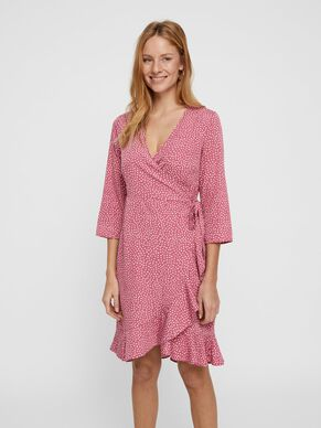 5ee678f0e8d2 DOTTED WRAP DRESS