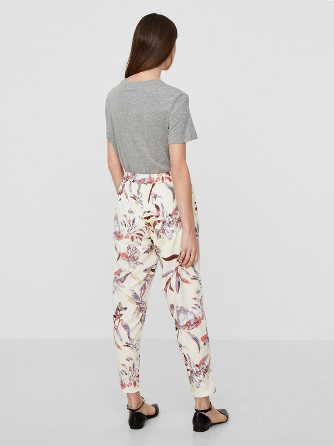 FLOWER TROUSERS, Snow White, large