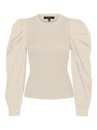 VOLUME SLEEVED KNITTED PULLOVER