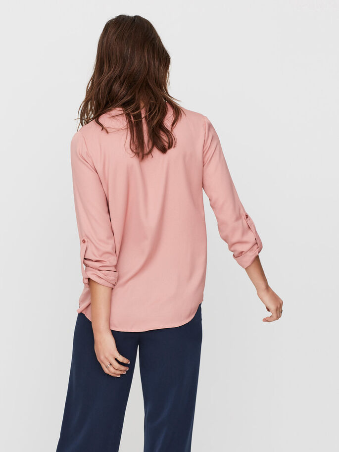 DETAILED LONG SLEEVED TOP, Ash Rose, large