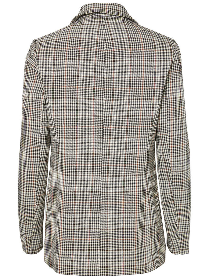 CHEQUERED BLAZER, White Asparagus, large