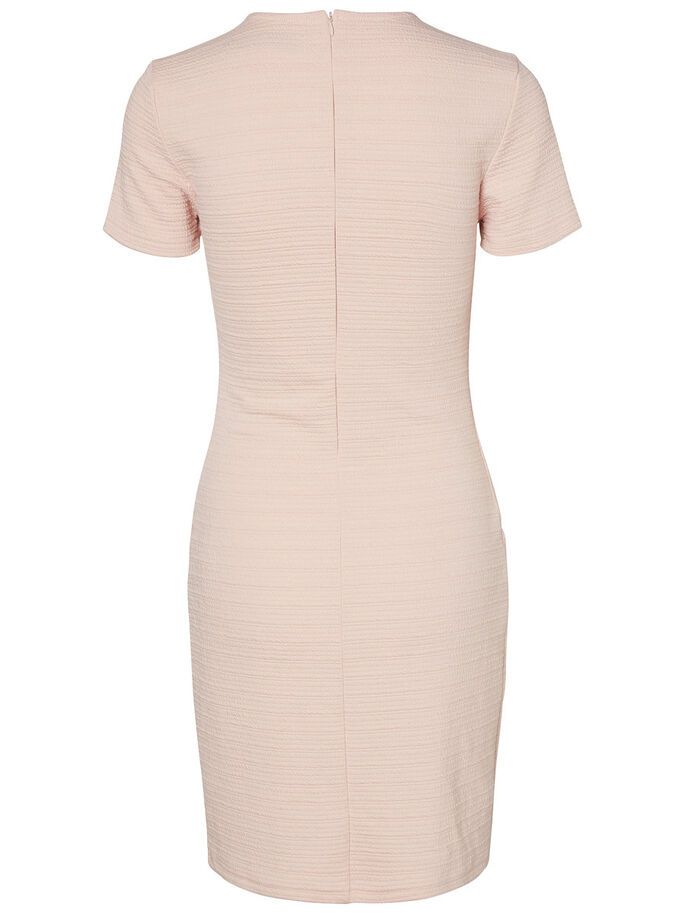 FEMININE SHORT SLEEVED DRESS, Peach Whip, large