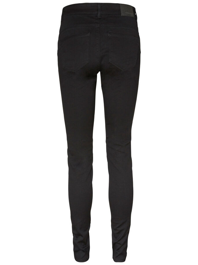 SEVEN NW SHAPE-UP SKINNY FIT JEANS, Black, large
