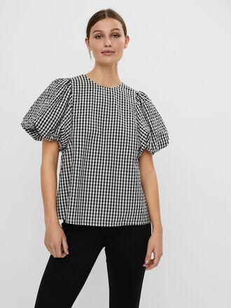 CHECKERED SHORT SLEEVED TOP