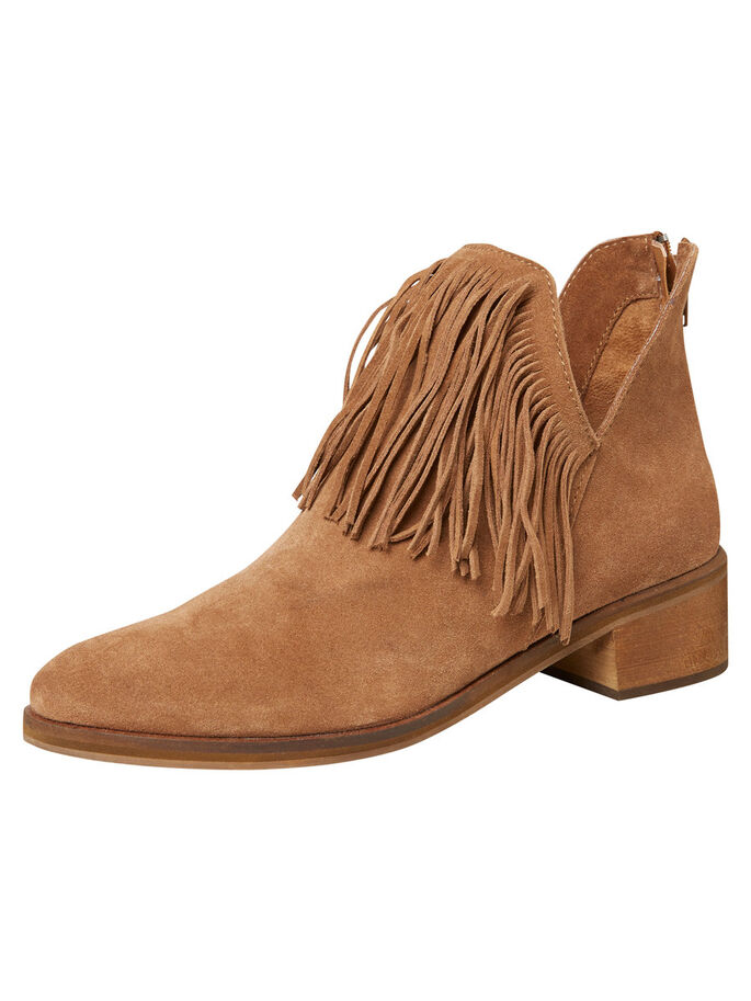 SUEDE ANKLE BOOTS, Camel, large