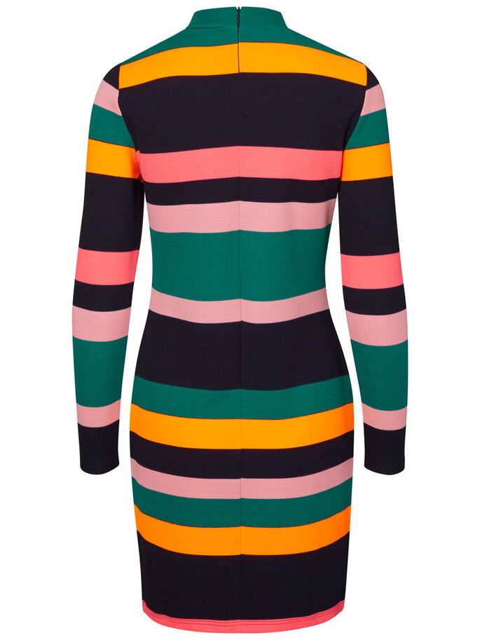 COLOURFUL KNITTED DRESS, Navy Blazer, large