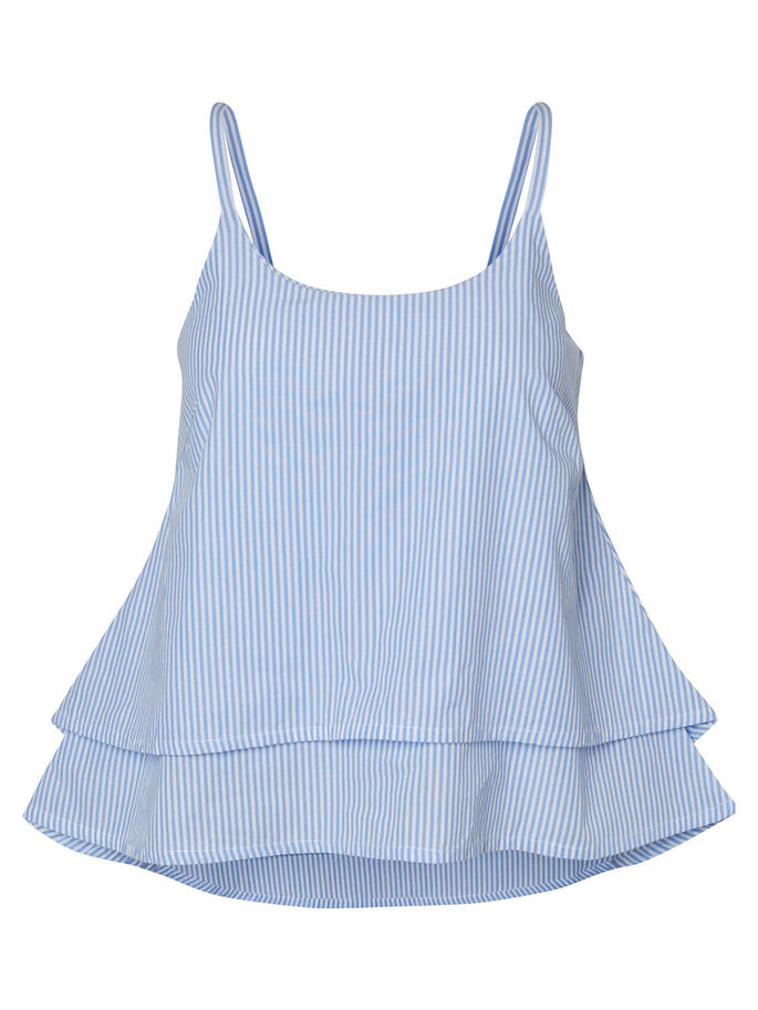 STRIPED SLEEVELESS TOP, Bright White, large
