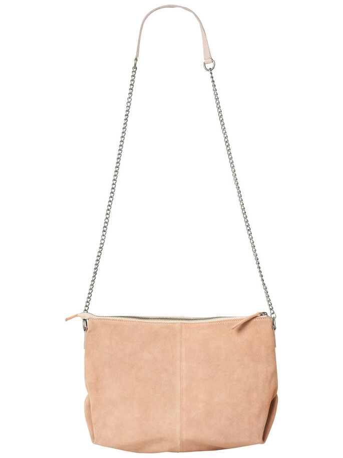 SUEDE SHOULDER BAG, Rose Cloud, large