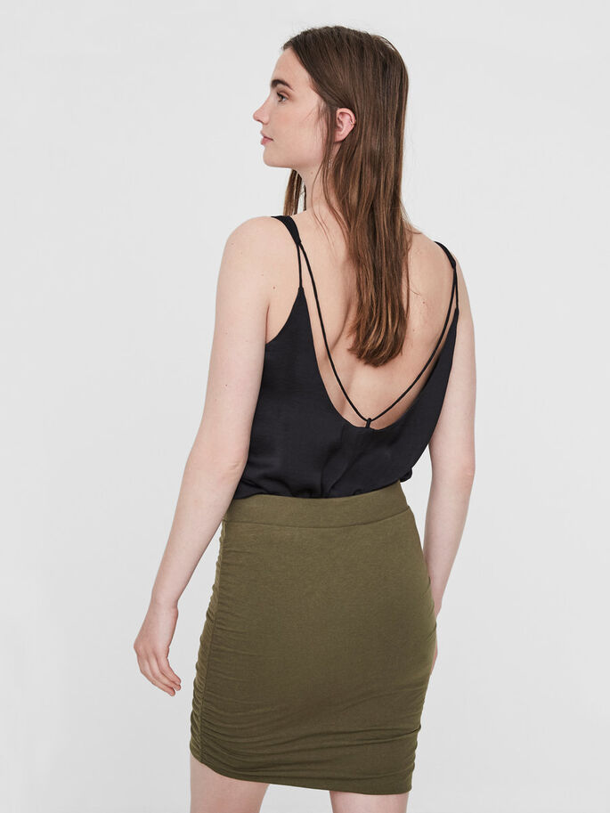 SHORT NW SKIRT, Ivy Green, large