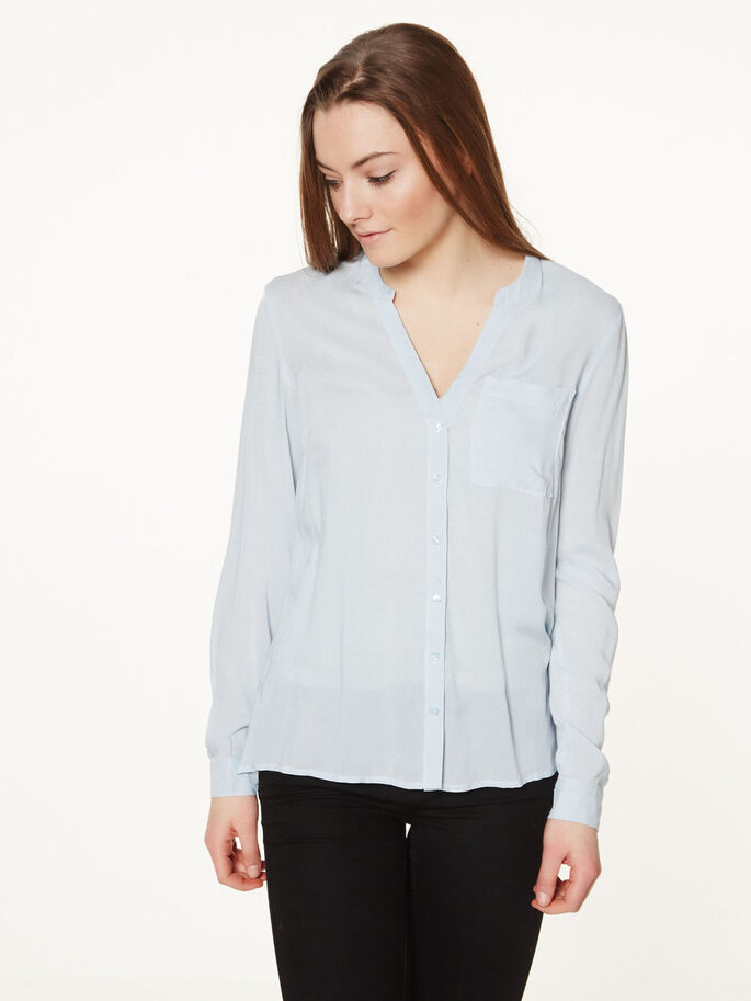 CLASSIC LONG SLEEVED SHIRT, Baby Blue, large
