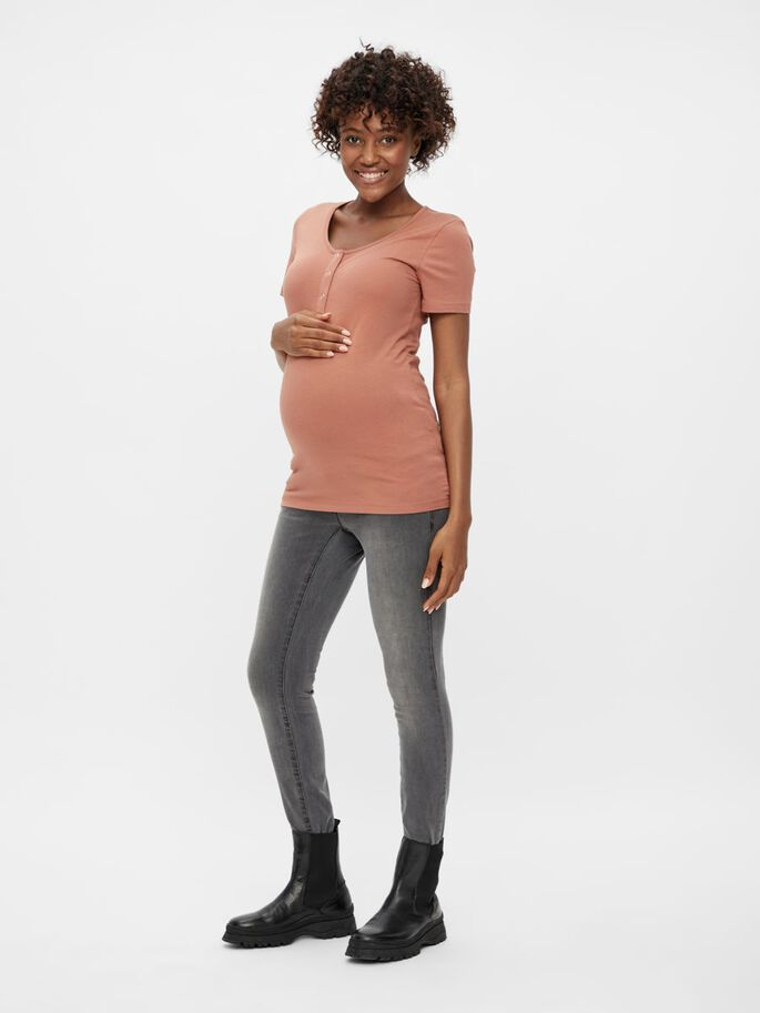 MLMAPLE 2-PACK OF 2-IN-1 MATERNITY T-SHIRT, Black, large