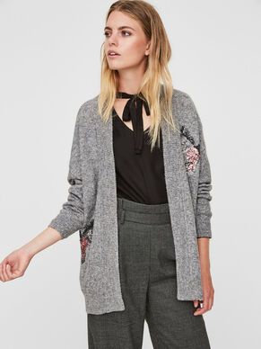 SEQUINED KNITTED CARDIGAN