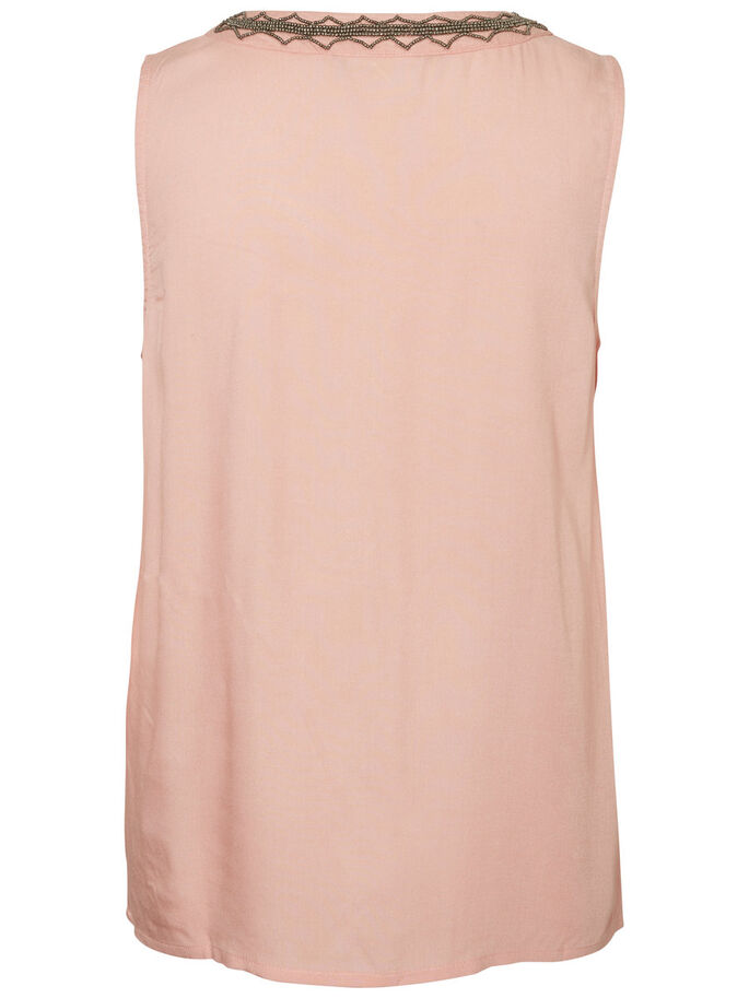 VISCOSE SLEEVELESS TOP, Coral Cloud, large