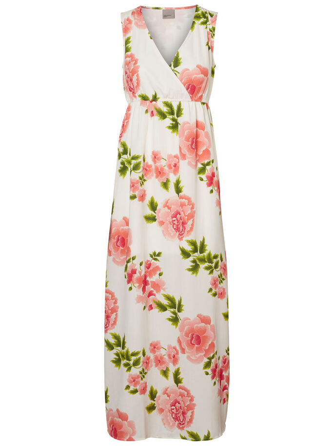 FLOWER MAXI DRESS, Snow White, large