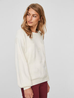 DOTTED KNITTED PULLOVER