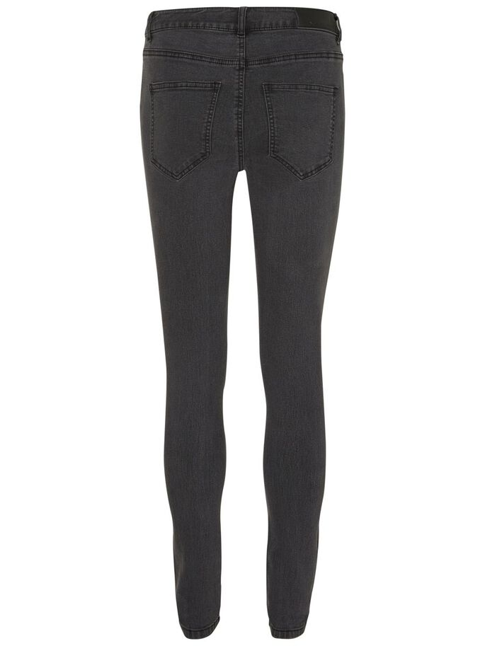 LUCY NW SKINNY FIT JEANS, Dark Grey Denim, large