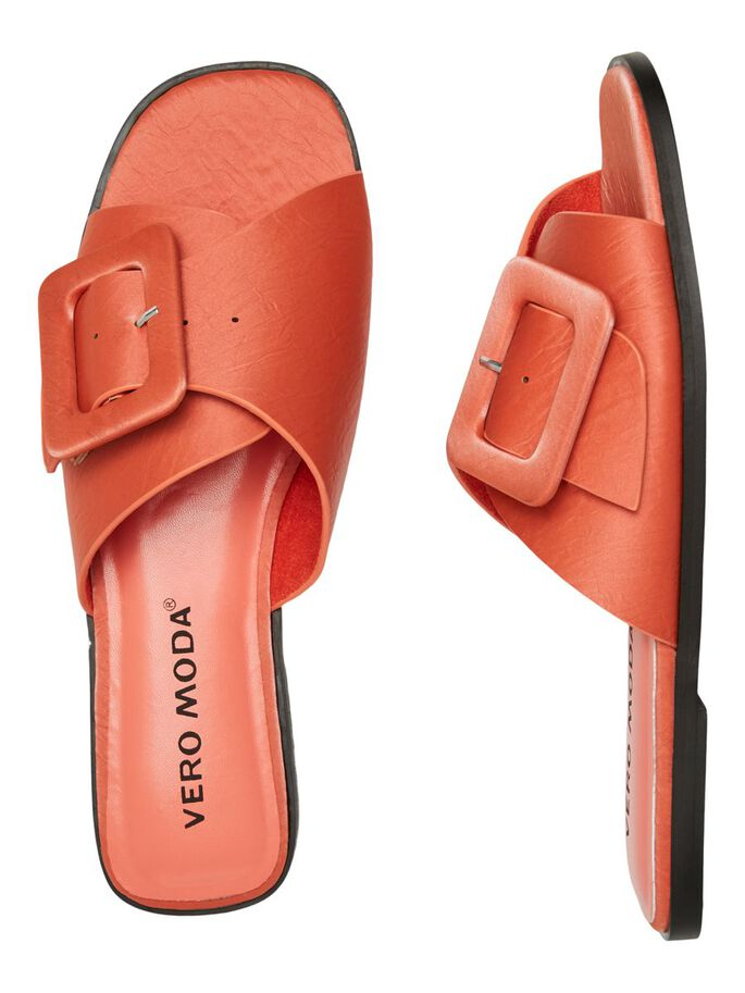 FLAT SANDALS, Spiced Coral, large