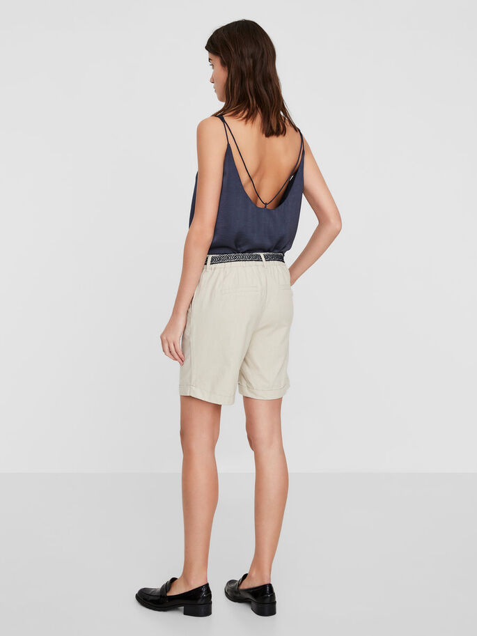 FÉMININ SHORTS, Oatmeal, large