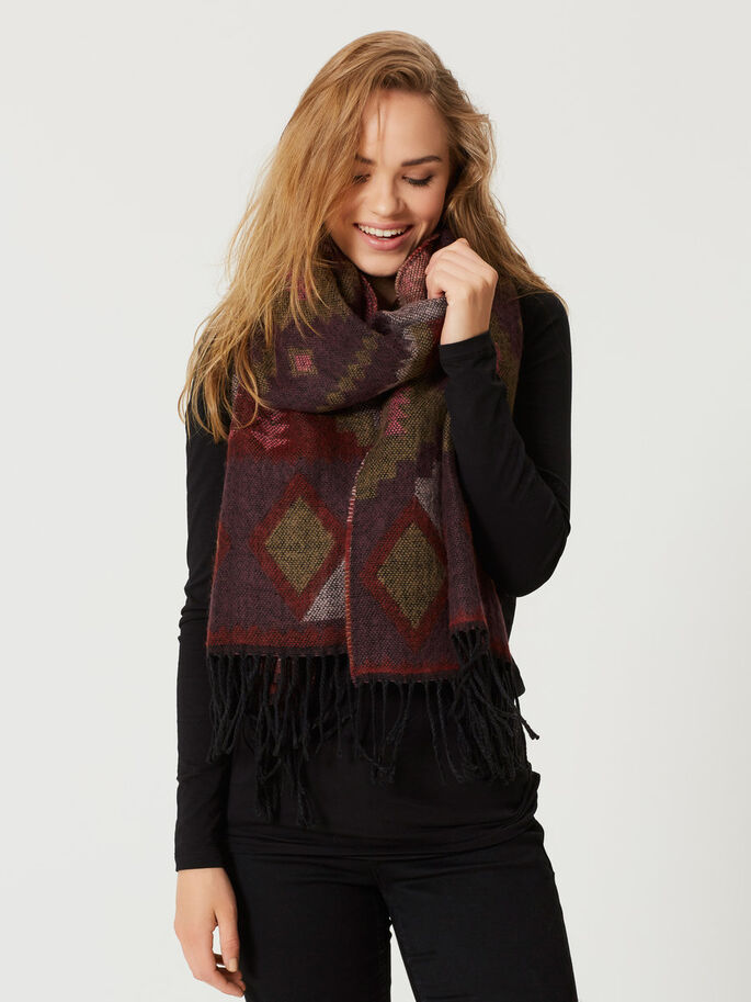 KNITTED SCARF, Decadent Chocolate, large