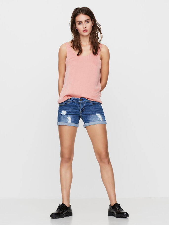LW JEANSSHORTS, Medium Blue Denim, large