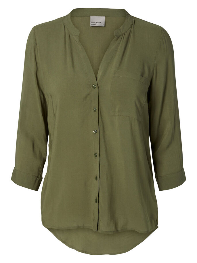 HIGH-LOW OVERHEMD, Ivy Green, large