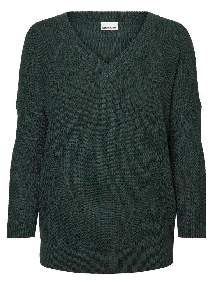 CASUAL KNITTED PULLOVER, Scarab, large